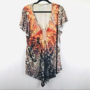 Live and Let Live Blouse 2X